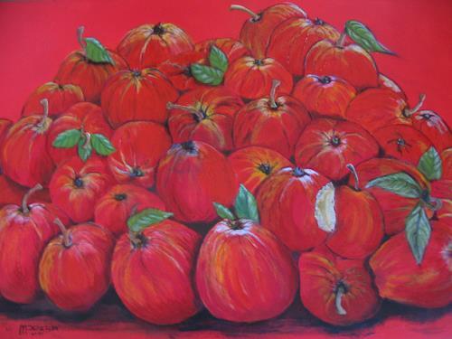 Michael Doerr, Apples, Essen, Ernte, Expressionismus