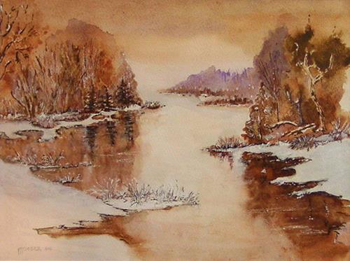 Michael Doerr, Winter im Spessart, Landschaft: Winter, Natur: Wald, Naturalismus, Expressionismus