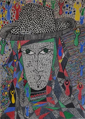 Inese Dzervinika, O/T, Abstraktes, Diverse Menschen, Abstrakter Expressionismus