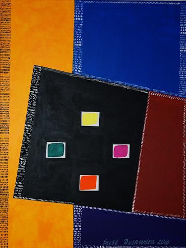 Inese Dzervinika, O/T, Abstraktes, Abstrakter Expressionismus