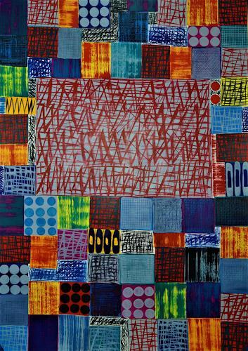 Inese Dzervinika, O/T, Abstraktes, Colour Field Painting