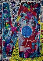 Inese-Dzervinika-Abstraktes-Moderne-Abstrakte-Kunst-Informel