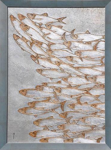 Heike Bender, Sardinella aurita, Tiere: Wasser, Bewegung, Gegenwartskunst