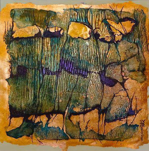 Heike Bender, O.T. 77, Abstraktes, Natur: Wasser, Gegenwartskunst, Expressionismus