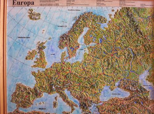 Ottmar Gebhardt, Europa Reliefbild, Diverses, Dekoratives, Neuzeit