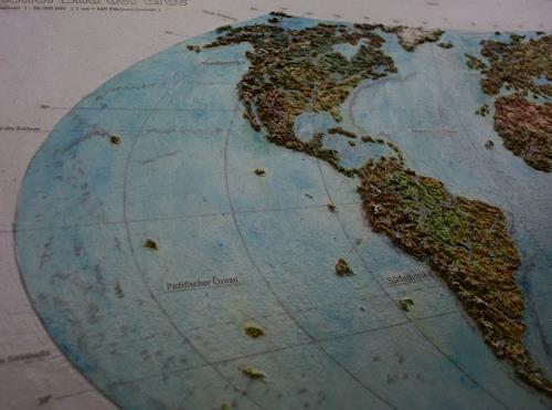 Ottmar Gebhardt, Geo-Reliefbilder 3d maßstabgerecht auch in den Höhen. Handmodelliert, Natur: Erde, Diverse Landschaften, Naturalismus