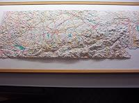 O. Gebhardt, Geo-Reliefbild im Entstehen,handmodelliert,maßstabgerecht