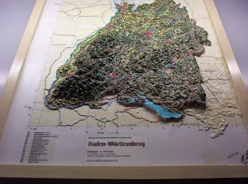 Ottmar Gebhardt, # Reliefbild Einzigartig weltweit #, Diverse Landschaften, Dekoratives, Realismus