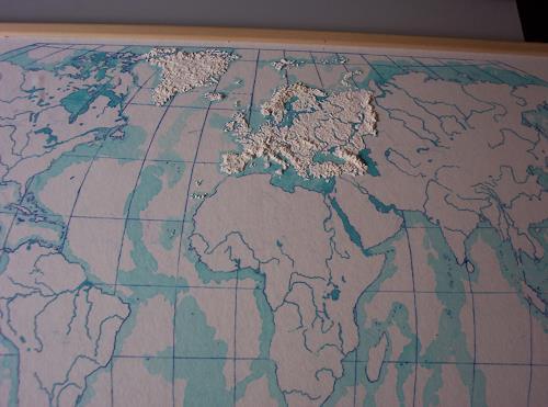 Ottmar Gebhardt, reliefbild-der-erde, Weltraum, Dekoratives, Land-Art