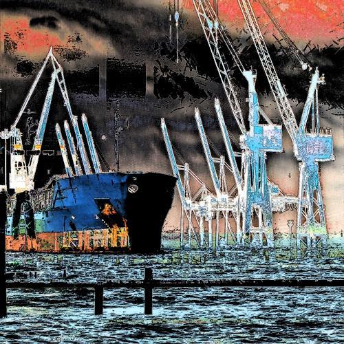 Beate Kratt, Hamburg - Hafen, Technik, Industrie, Gegenwartskunst, Abstrakter Expressionismus