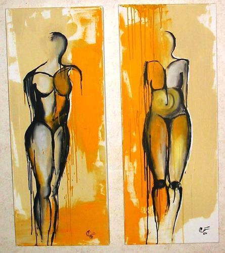 maria kammerer, Acryl auf Leinwand, Akt/Erotik: Akt Frau, Moderne