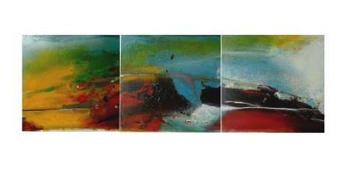 maria kammerer, Acryl auf Eisen, Abstraktes, Moderne