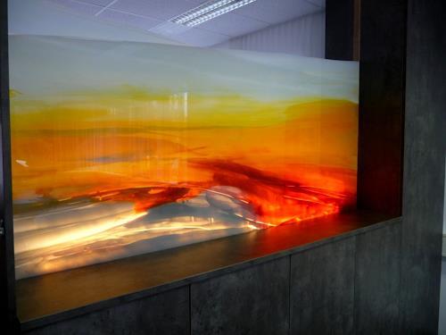 acryl auf glas von maria kammerer abstraktes malerei. Black Bedroom Furniture Sets. Home Design Ideas