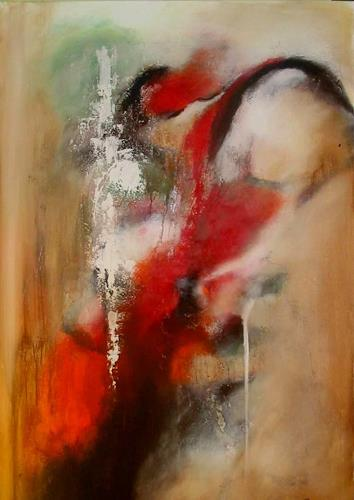 maria kammerer, Wasserfall, Abstraktes, Moderne, Expressionismus