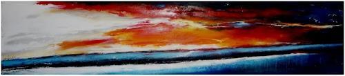 maria kammerer, Sonnenuntergang, Landschaft: See/Meer, Abstrakte Kunst