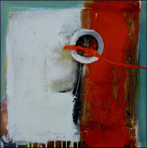 maria kammerer, Übungsbild mit verschiedenen Materialen und Techniken, Abstraktes, Moderne, Expressionismus