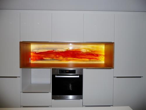 maria kammerer, Glasbild für Küchennische, Abstraktes, Moderne