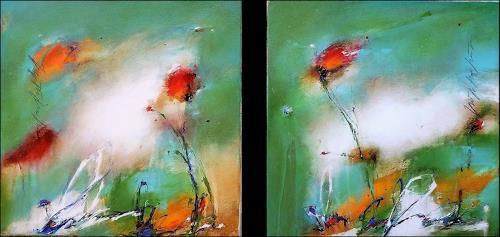 maria kammerer, Verträumt 2, Pflanzen: Blumen, Abstrakte Kunst