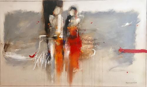 maria kammerer, Gemeinsam durchs Leben!, Menschen: Paare, Abstrakte Kunst, Expressionismus