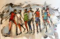 maria-kammerer-Menschen-Gruppe-Moderne-Abstrakte-Kunst-Action-Painting