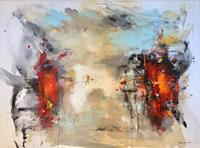 maria-kammerer-Menschen-Gruppe-Moderne-Abstrakte-Kunst
