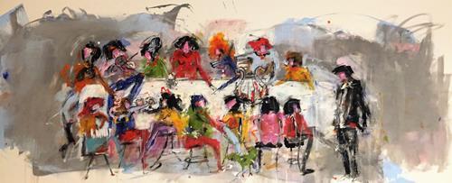 maria kammerer, In guter Gesellschaft, Menschen: Gruppe, Abstrakte Kunst