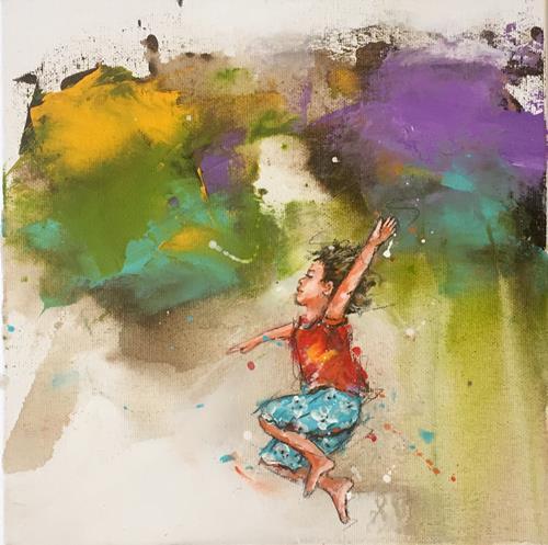 maria kammerer, Auftragsarbeit, Menschen: Kinder, Abstrakte Kunst, Expressionismus