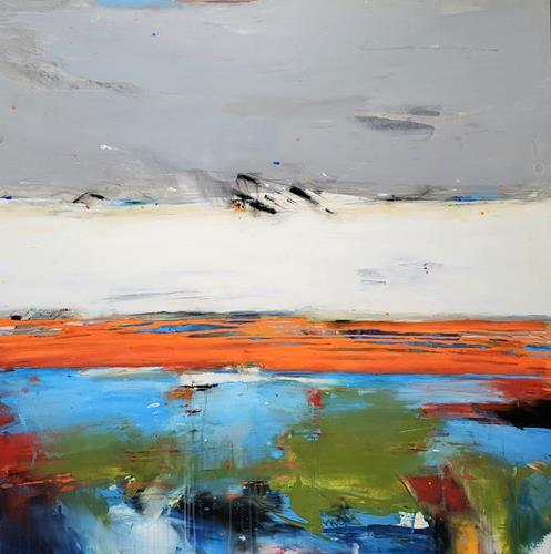 maria kammerer, Sommer!, Abstraktes, Abstrakte Kunst, Expressionismus