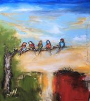 maria-kammerer-Tiere-Luft-Diverse-Landschaften-Moderne-Abstrakte-Kunst-Action-Painting