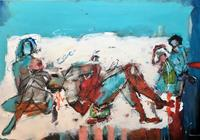maria-kammerer-Menschen-Familie-Moderne-Abstrakte-Kunst-Action-Painting