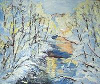 Pierre-Putica-Landschaft-Winter-Moderne-Impressionismus