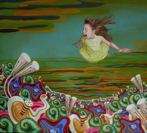 Pascal Roy, Dreamland, Landschaft: Sommer, Fantasie, Konzeptkunst, Abstrakter Expressionismus