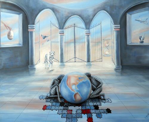 Ela Nowak, Die Welt in Raum und Zeit, Fantasie, Symbol, Postsurrealismus