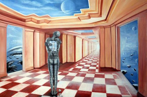 Ela Nowak, Aufgehängt in der Zeit, Diverse Gefühle, Menschen: Mann, Postsurrealismus