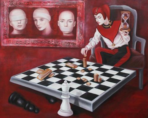 Ela Nowak, Die Sinne im Machtspiel der Menschheit-3, Diverse Gefühle, Menschen: Gruppe, Symbolismus, Expressionismus