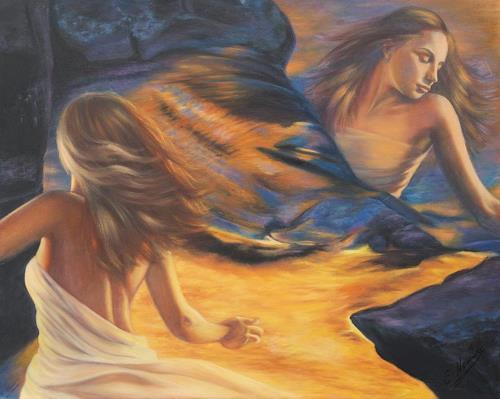 Ela Nowak, Träume1, Fantasie, Bewegung, Postsurrealismus