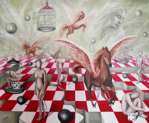 Ela Nowak, Die Wege des Lebens, Fantasie, Mythologie, Postsurrealismus