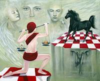 Ela-Nowak-Menschen-Gruppe-Diverse-Gefuehle-Moderne-Avantgarde-Surrealismus