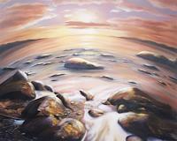 Ela-Nowak-Landschaft-Berge-Natur-Wasser-Neuzeit-Realismus