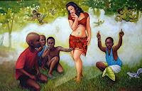 Rajesh-Rana-Diverse-Menschen-Landschaft-Fruehling-Moderne-Naturalismus