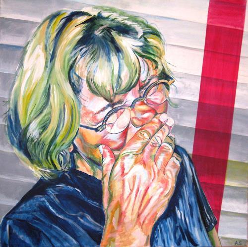 Angela Selders-Kanthak, Selbstporträt, Menschen: Porträt, Menschen: Frau, Gegenwartskunst, Abstrakter Expressionismus