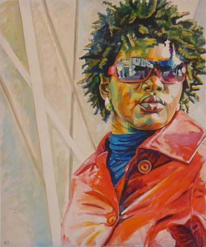 Angela Selders-Kanthak, Liss I, Menschen: Frau, Menschen: Porträt, Realismus, Abstrakter Expressionismus