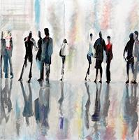 Angela-Selders-Kanthak-Menschen-Gruppe-Moderne-Andere-Neue-Figurative-Malerei