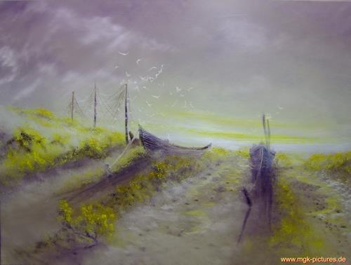 Georg-Kurt  Müller, Morgennebel, Landschaft: See/Meer, Gegenwartskunst, Expressionismus
