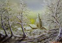 Georg-Kurt--Mueller-Landschaft-Winter-Gegenwartskunst--Gegenwartskunst-