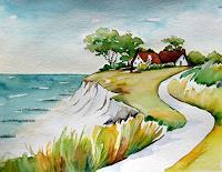 Meltem-Kilic-Landschaft-See-Meer-Moderne-Naturalismus