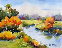 Meltem-Kilic-Landschaft-Herbst-Landschaft-Herbst-Gegenwartskunst--Gegenwartskunst-