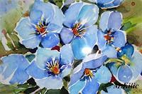 Meltem-Kilic-Stilleben-Pflanzen-Blumen-Gegenwartskunst--Gegenwartskunst-
