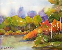 Meltem-Kilic-Landschaft-Herbst-Natur-Wasser-Gegenwartskunst--Gegenwartskunst-
