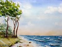 Meltem-Kilic-Landschaft-Strand-Natur-Wasser-Gegenwartskunst--Gegenwartskunst-